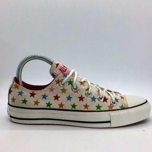 Girls Converse canvas glitter stars low tops
